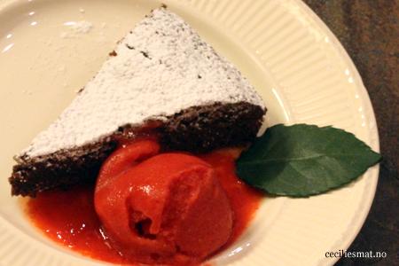 Fransk-sjokoladekake