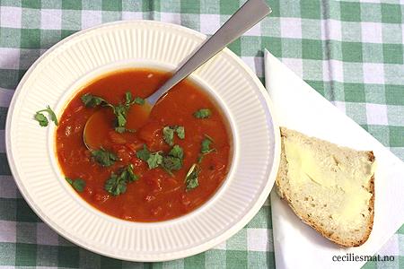 Hot-tomatsuppe-med-koriander
