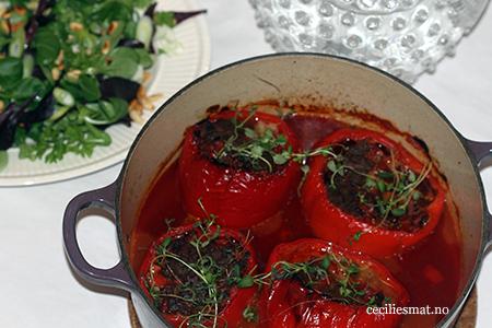Kjøttfylte-paprikaer
