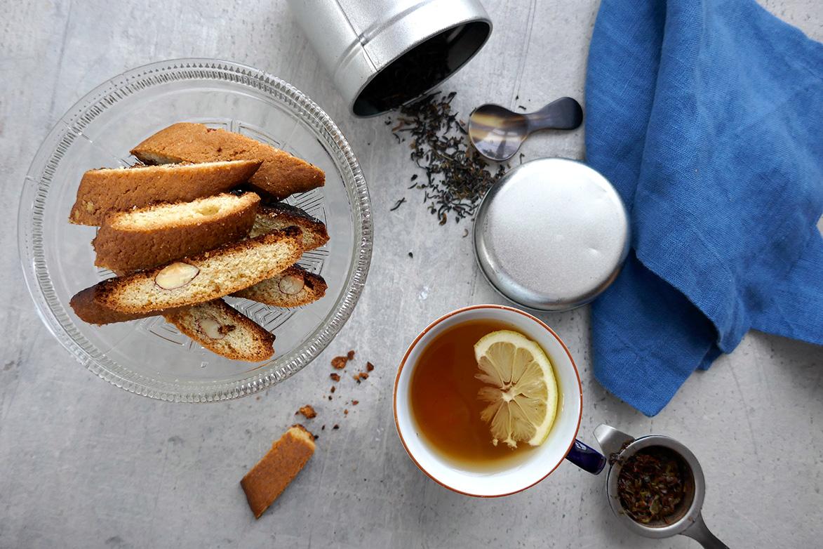 Biscotti med sitron og mandler