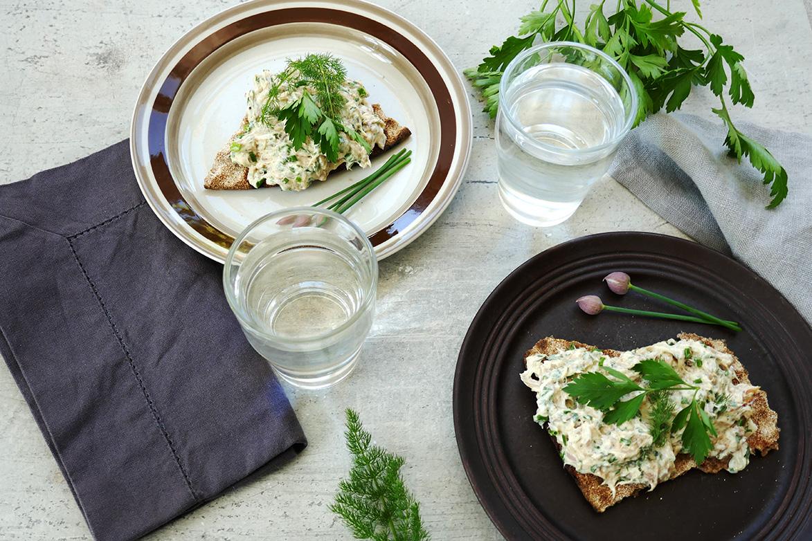 Makrelllrøre med urter og sitron