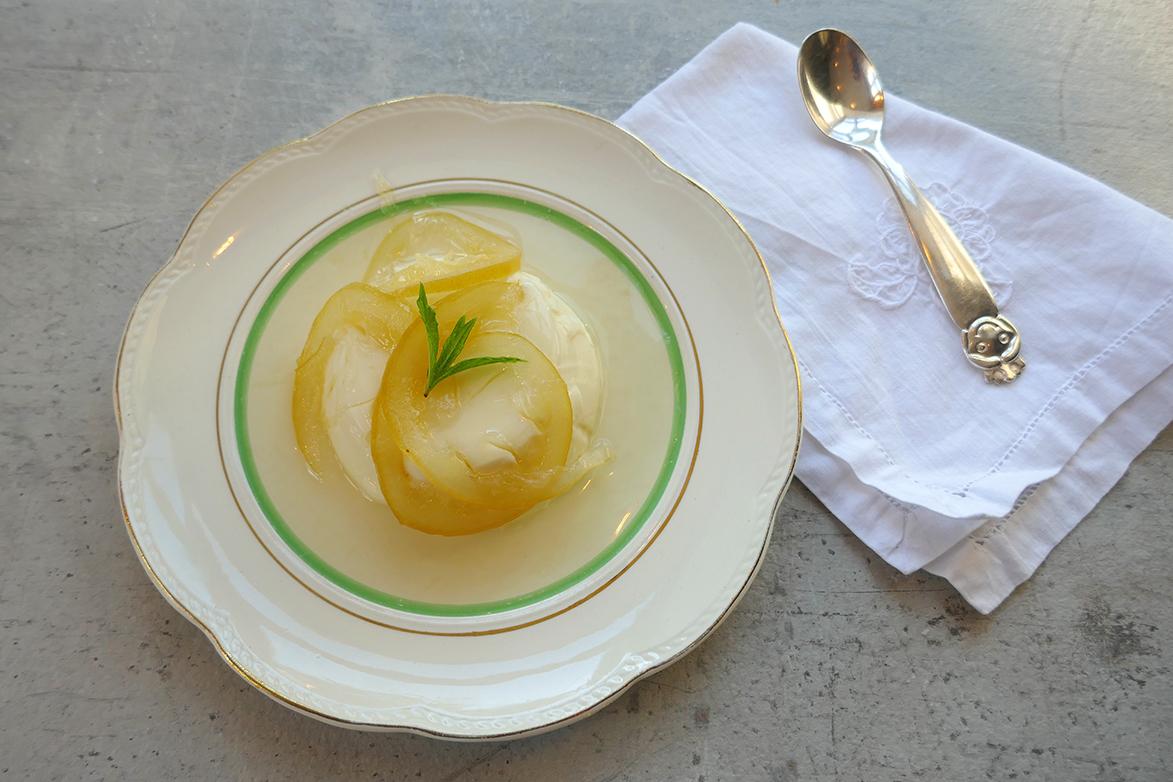 Panna cotta med sitron