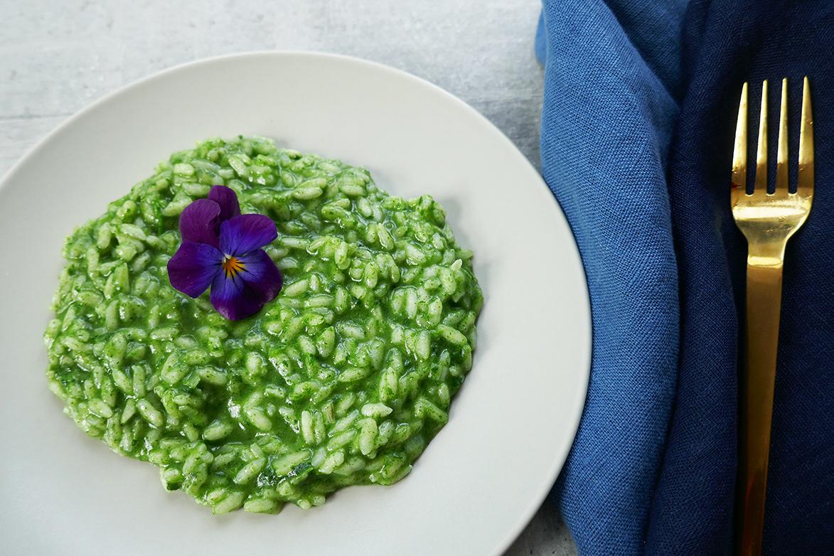Grønn risotto med nesler